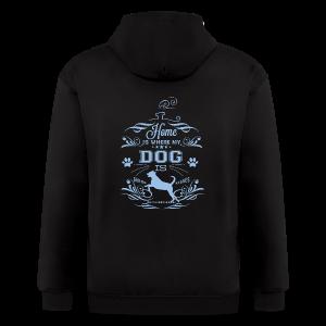Home_Dog - Men's Zip Hoodie