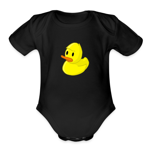 Rubber Quackity - Organic Short Sleeve Baby Bodysuit