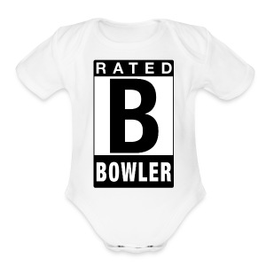 Rated Tee - Bowler - Short Sleeve Baby Bodysuit