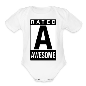 Rated Tee - Awesome - Short Sleeve Baby Bodysuit