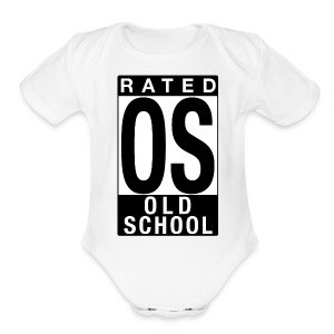 Rated Tee - Old School - Short Sleeve Baby Bodysuit