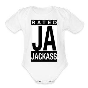 Rated Tee - Jackass - Short Sleeve Baby Bodysuit