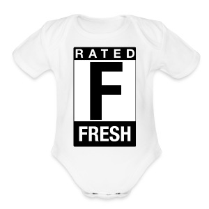 Rated Tee - Fresh - Short Sleeve Baby Bodysuit