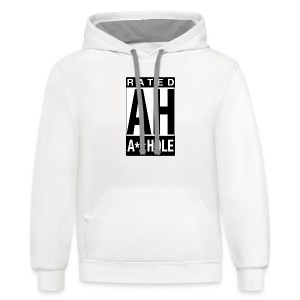 Rated Tee - A-hole - Contrast Hoodie