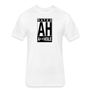 Rated Tee - A-hole - Fitted Cotton/Poly T-Shirt by Next Level