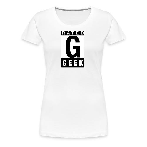 Rated Tee - Geek - Women's Premium T-Shirt