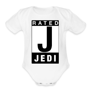 Rated Tee - Jedi - Short Sleeve Baby Bodysuit
