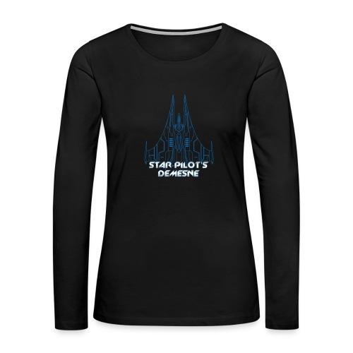 Star Pilot's Demesne Title Tee - Women's Premium Long Sleeve T-Shirt