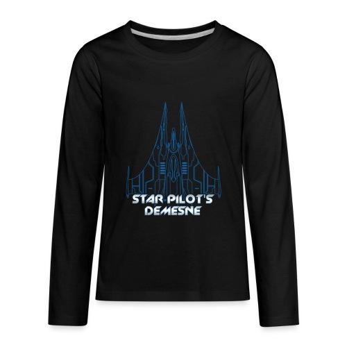 Star Pilot's Demesne Title Tee - Kids' Premium Long Sleeve T-Shirt