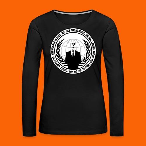 Anonymous Hacker  - Women's Premium Long Sleeve T-Shirt