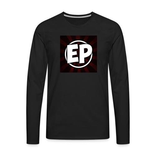 Ewick Plays Logo Large Black T-Shirt - Men's Premium Long Sleeve T-Shirt
