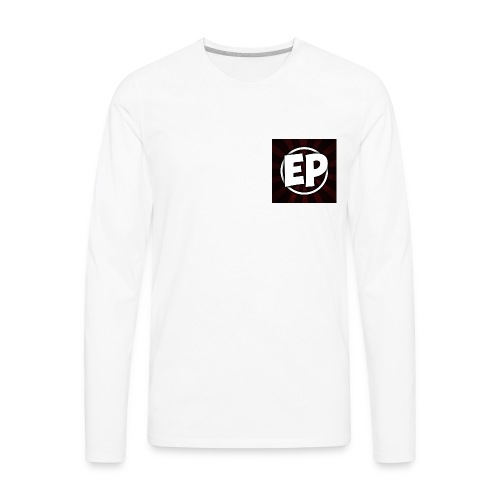 Ewick Plays Logo Small T-Shirt White - Men's Premium Long Sleeve T-Shirt