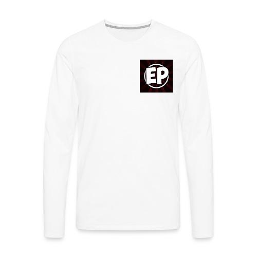 Ewick Plays Logo Small T-Shirt White - Men's Premium Long Sleeve T-Shirt