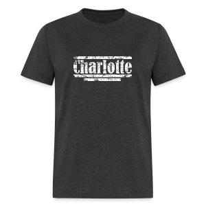 Charlotte Vintage White Hoodie - Men's T-Shirt