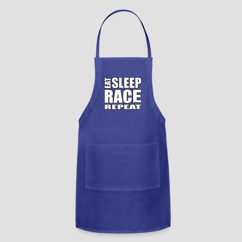 Eat Sleep Race Repeat T-Shirt - Adjustable Apron