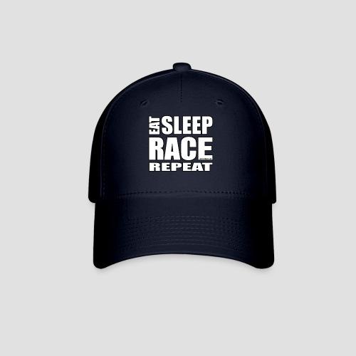 Eat Sleep Race Repeat T-Shirt - Baseball Cap