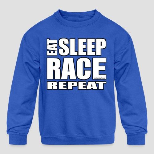 Eat Sleep Race Repeat T-Shirt - Kids' Crewneck Sweatshirt
