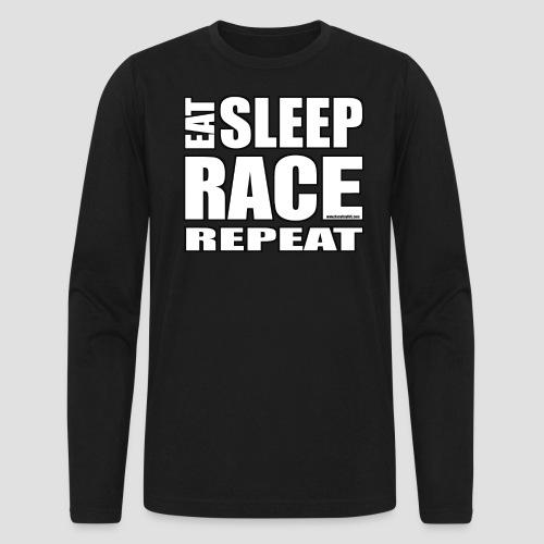 Eat Sleep Race Repeat T-Shirt - Men's Long Sleeve T-Shirt by Next Level
