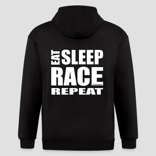 Eat Sleep Race Repeat T-Shirt - Men's Zip Hoodie