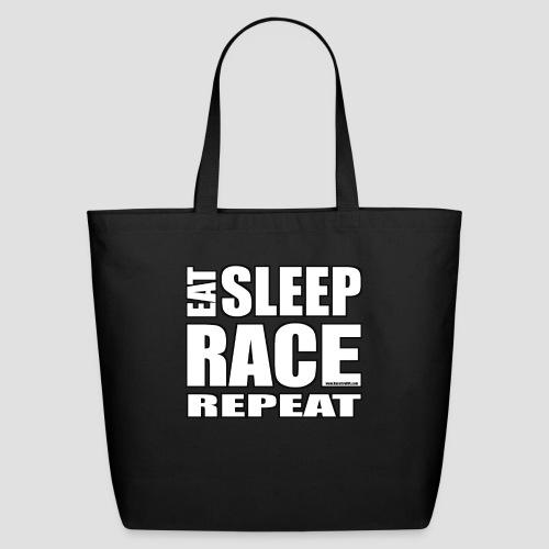 Eat Sleep Race Repeat T-Shirt - Eco-Friendly Cotton Tote