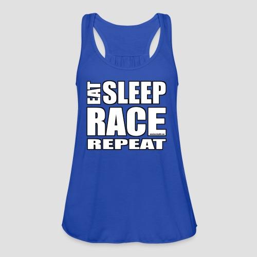 Eat Sleep Race Repeat T-Shirt - Women's Flowy Tank Top by Bella