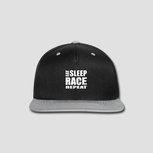 Eat Sleep Race Repeat T-Shirt - Snap-back Baseball Cap