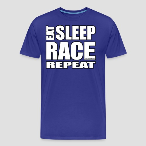 Eat Sleep Race Repeat T-Shirt - Men's Premium T-Shirt