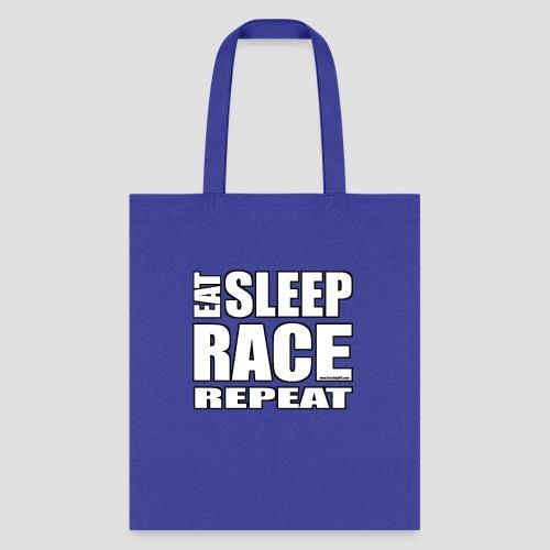 Eat Sleep Race Repeat T-Shirt - Tote Bag