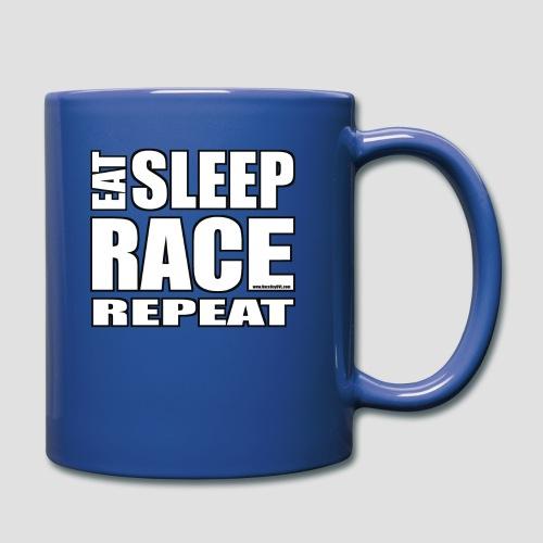 Eat Sleep Race Repeat T-Shirt - Full Color Mug