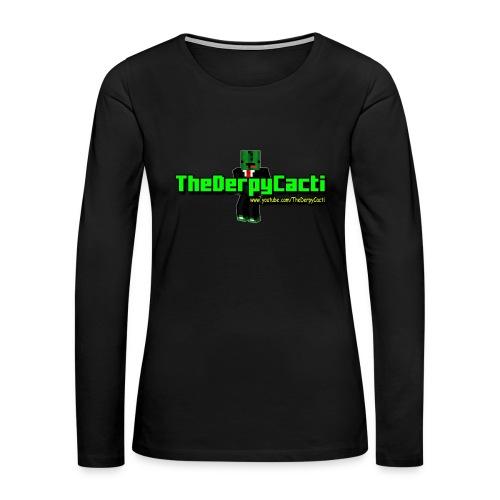 TheDerpyCacti Womens T-Shirt - Women's Premium Long Sleeve T-Shirt
