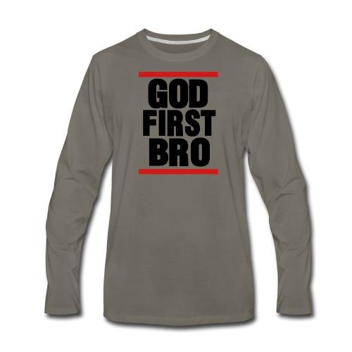 God First Bro - Men's Premium Long Sleeve T-Shirt