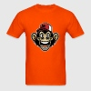 funny monkey wearing a baseball cap - Men's T-Shirt
