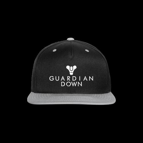 Guardian Down (Black) - Snap-back Baseball Cap