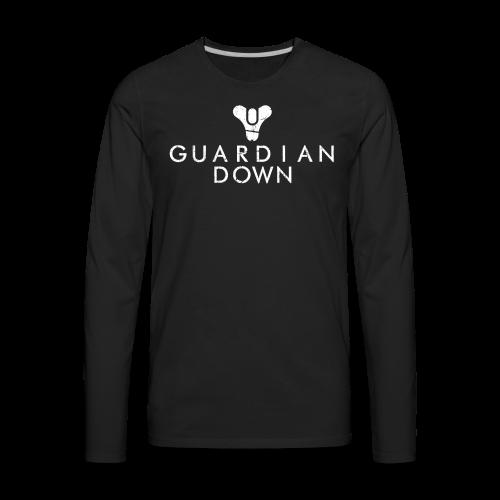 Guardian Down (Black) - Men's Premium Long Sleeve T-Shirt