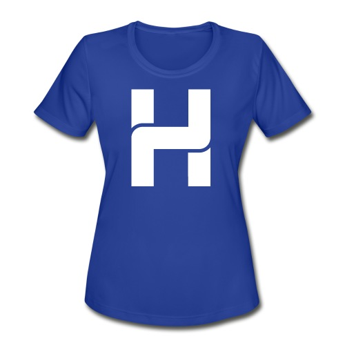 Hazey White Logo T-Shirt - Women's Moisture Wicking Performance T-Shirt