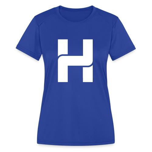 Hazey White Logo T-Shirt - Women's Moisture Wicking Performance T-Shirt