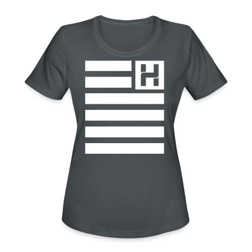Hoodie Hazey Flag - Women's Moisture Wicking Performance T-Shirt
