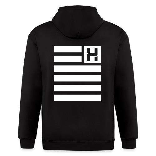 Hoodie Hazey Flag - Men's Zip Hoodie