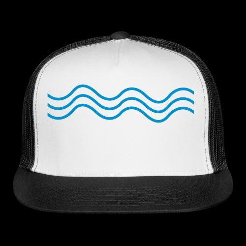Bass Wave Wavey Logo - Trucker Cap