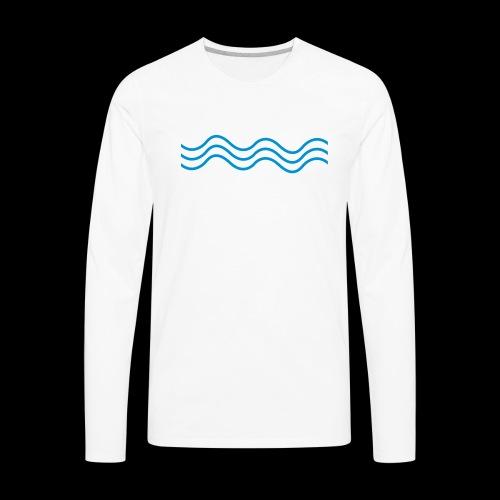 Bass Wave Wavey Logo - Men's Premium Long Sleeve T-Shirt