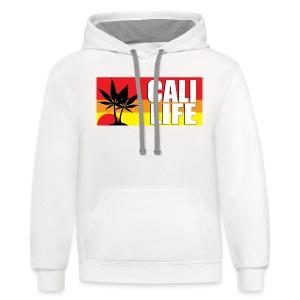 CALI LIFE Men's Classic Gildan T-Shirt - Contrast Hoodie
