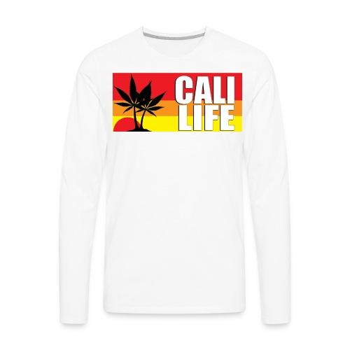 CALI LIFE Men's Classic Gildan T-Shirt - Men's Premium Long Sleeve T-Shirt