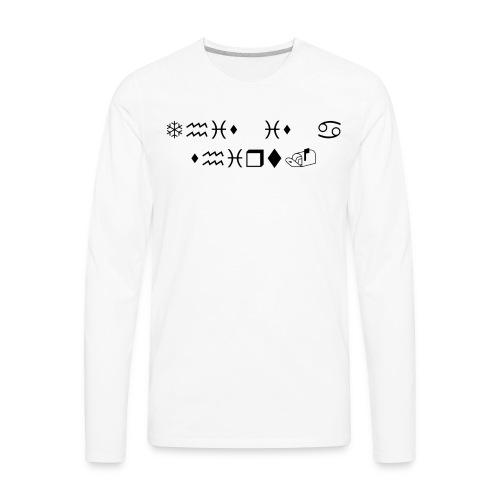 This is a shirt. - Men's Premium Long Sleeve T-Shirt