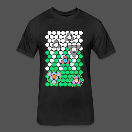 Crystal Lattice - Fitted Cotton/Poly T-Shirt by Next Level
