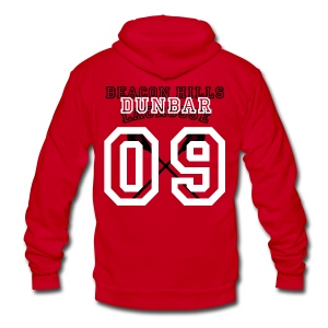 DUNBAR Beacon Hills Lacrosse - Men's Hoodie - Unisex Fleece Zip Hoodie by American Apparel