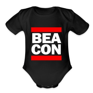 Beacon (White Font) -Tote Bag - Short Sleeve Baby Bodysuit