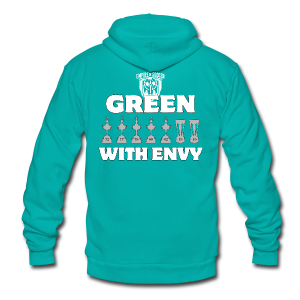 Cosmos: Green with Envy - Men's T-Shirt - Unisex Fleece Zip Hoodie by American Apparel
