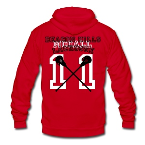 MCCALL Beacon Hills Lacrosse - Men's Hoodie - Unisex Fleece Zip Hoodie by American Apparel