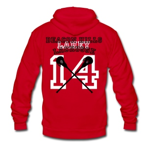 LAHEY Beacon Hills Lacrosse - Men's Hoodie - Unisex Fleece Zip Hoodie by American Apparel