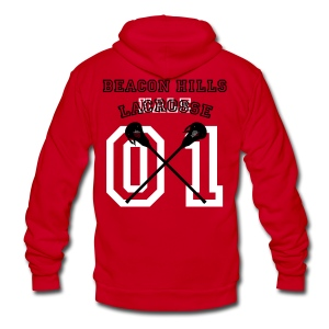 HALE Beacon Hills Lacrosse - Men's Hoodie - Unisex Fleece Zip Hoodie by American Apparel